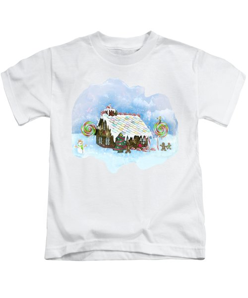 Santa Loves Cookies Kids T-Shirt by Methune Hively