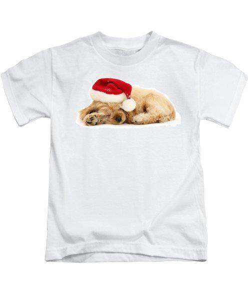 Santa's Sleepy Spaniel Kids T-Shirt
