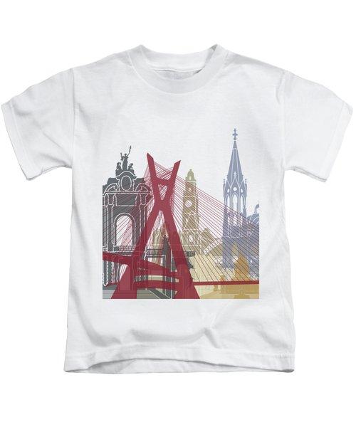 Sao Paulo Skyline Poster Kids T-Shirt