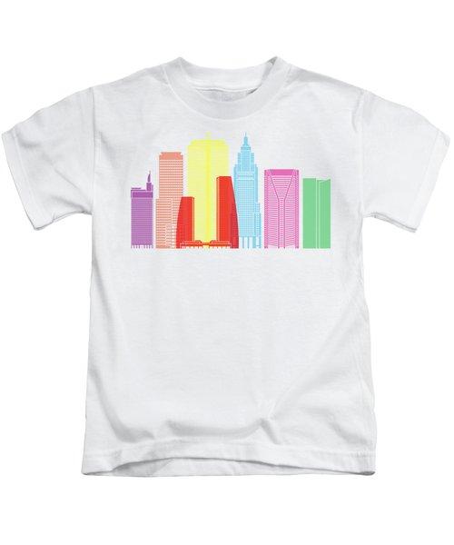 Sao Paulo V2 Skyline Pop Kids T-Shirt