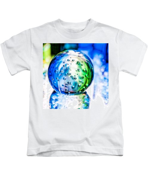 Sapphires And Emeralds II - Square Kids T-Shirt