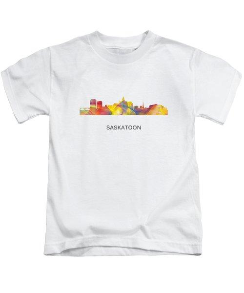 Saskatoon Sask.skyline Kids T-Shirt