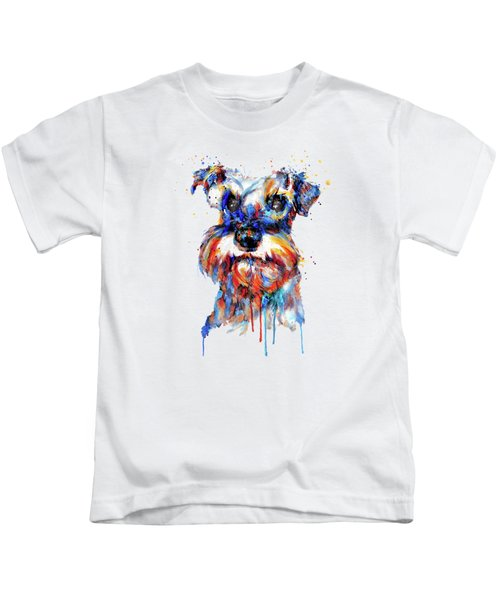 Schnauzer Head Kids T-Shirt