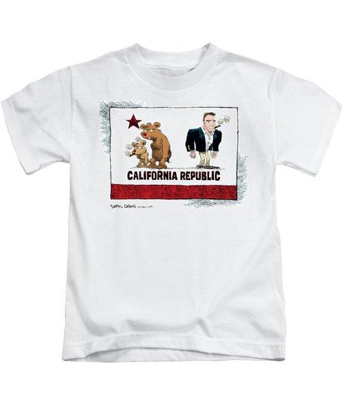Schwarzenegger Love Child Flag Kids T-Shirt