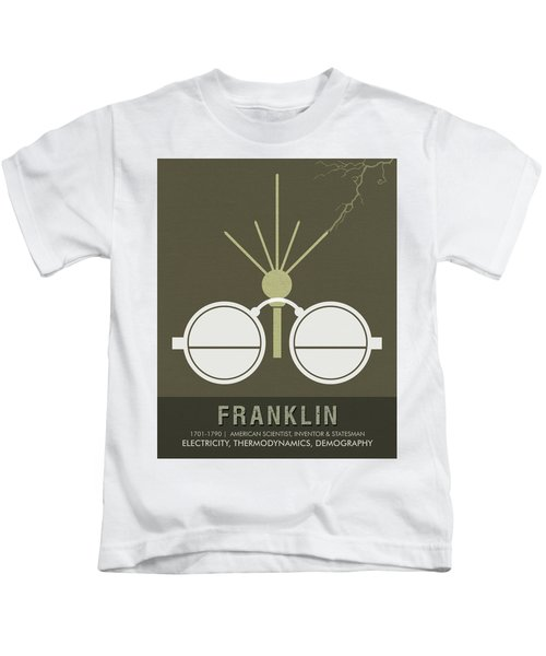 Science Posters - Benjamin Franklin - Scientist, Inventor, Statesman Kids T-Shirt