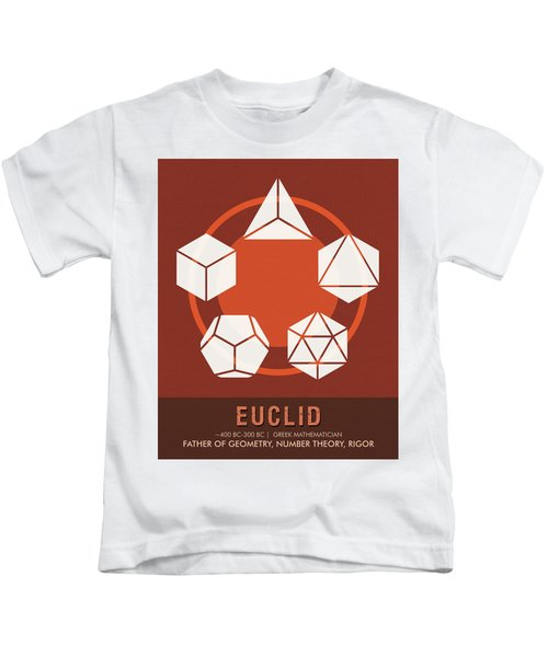 Science Posters - Euclid - Mathematician Kids T-Shirt