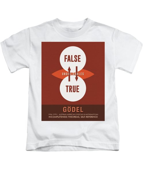 Science Posters - Kurt Godel - Mathematician, Logician Kids T-Shirt