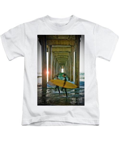 Scripps Pier Surfers Kids T-Shirt