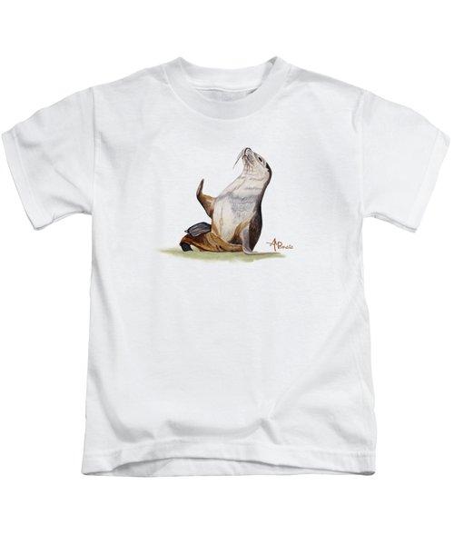 Sea Lion Watercolor II Kids T-Shirt