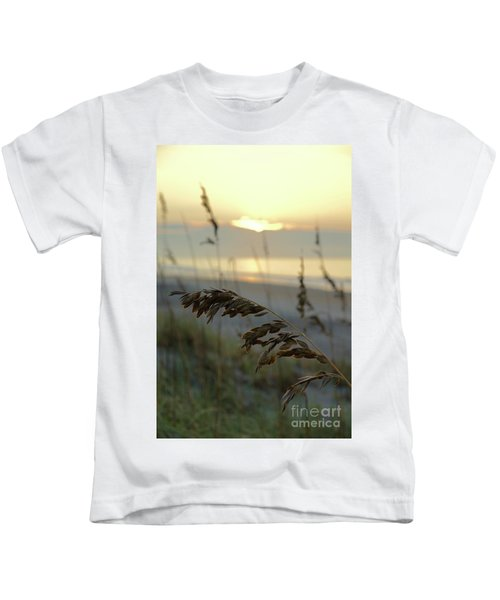 Sea Oats At Sunrise Kids T-Shirt