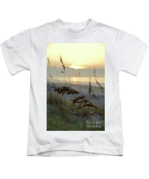 Sea Oats At Sunrise Kids T-Shirt