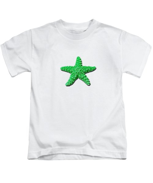 Sea Star Green .png Kids T-Shirt