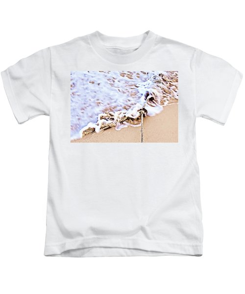Seafoam And Ropes On The Beach Kids T-Shirt