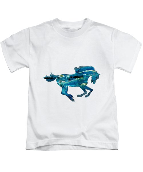 Seahorse By V.kelly Kids T-Shirt