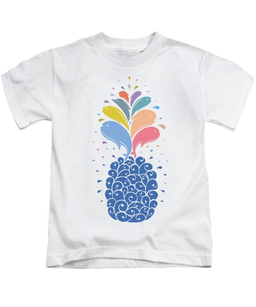 Seapple Kids T-Shirt by Mustafa Akgul
