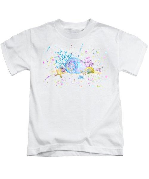 Seashells And Coral Watercolor Kids T-Shirt