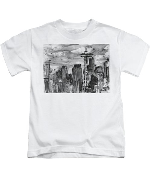 Seattle Skyline Space Needle Kids T-Shirt