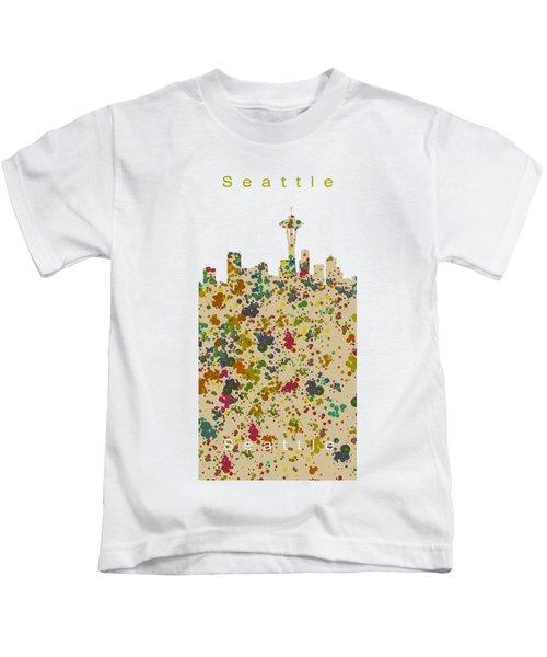 Seattle Skyline.2 Kids T-Shirt