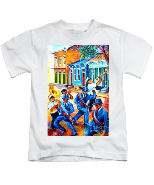 Second Line In Treme Kids T-Shirt