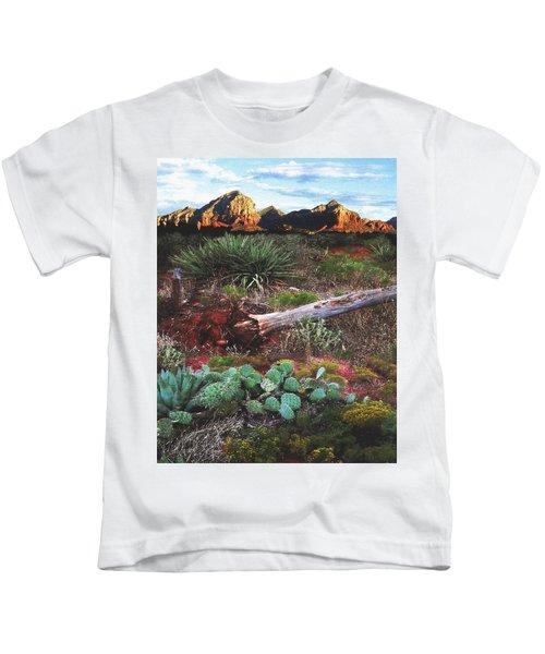 Sedona Mountain Sunrise Kids T-Shirt