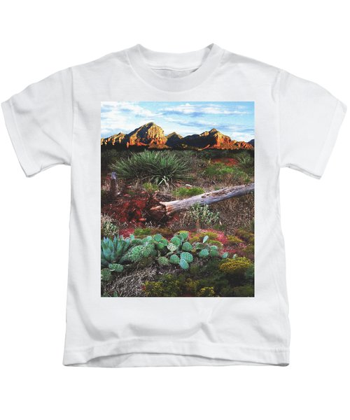 Sedona Mountain Sunrise Kids T-Shirt