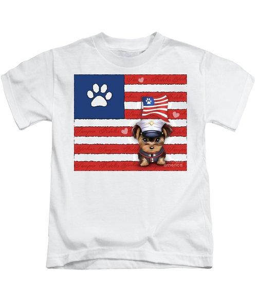 Semper Fidelis Yorkie Marine Kids T-Shirt