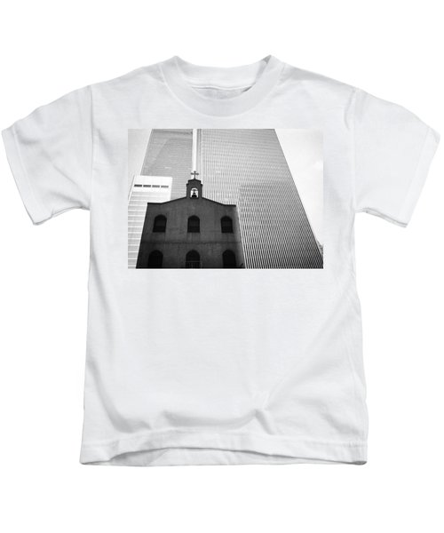 Shadow Of World Trade Center Kids T-Shirt