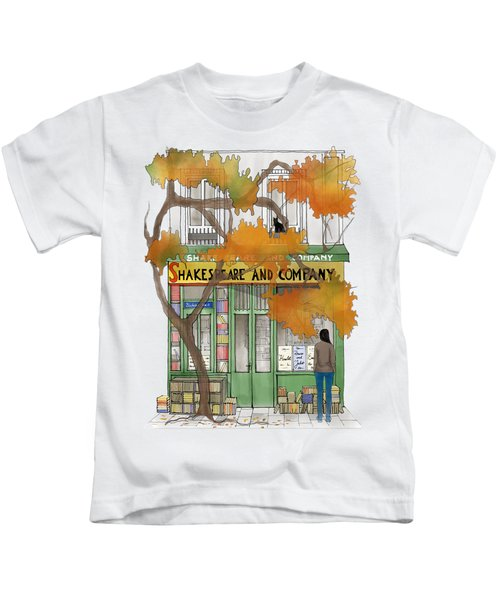 Shakespeare And Company - By Diana Van Kids T-Shirt