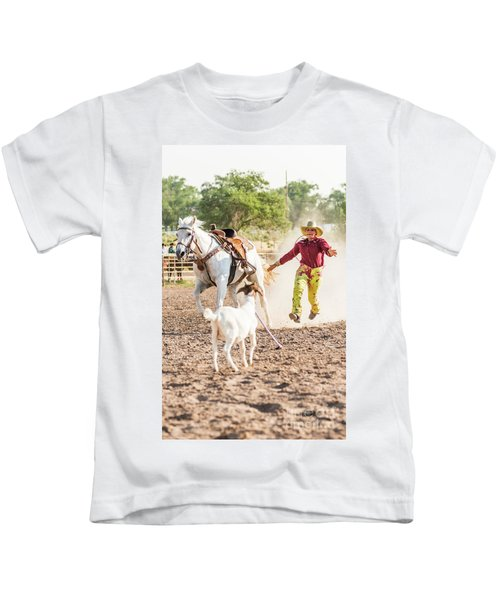 Shawnee Sagers Goat Roping Competition Kids T-Shirt