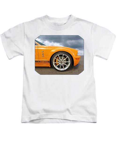 Shelby Gt500 Wheel Kids T-Shirt by Gill Billington