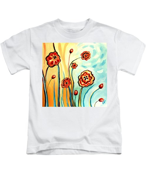 Sherbert And Powder Blue Skies Kids T-Shirt