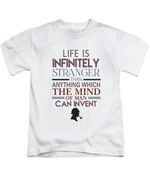 Sherlock Holmes Quotes Kids T-Shirt