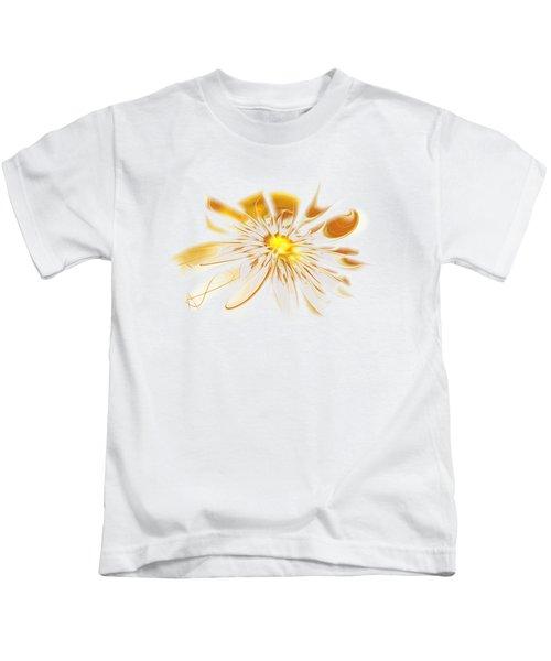 Shining Yellow Flower Kids T-Shirt