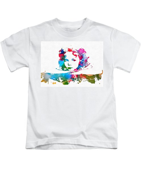 Shirley Temple Watercolor Paint Splatter Kids T-Shirt