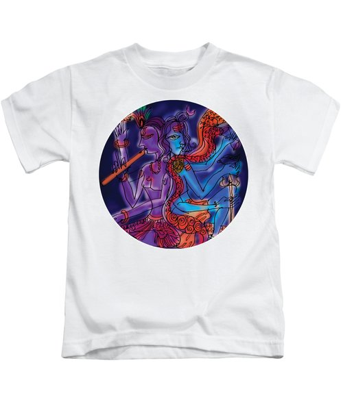 Shiva And Krishna Kids T-Shirt