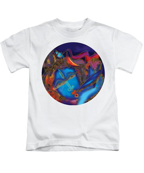 Shiva Blowing The Horn Kids T-Shirt