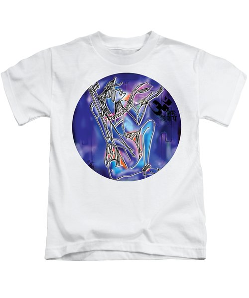 Shiva Playing Vina Kids T-Shirt