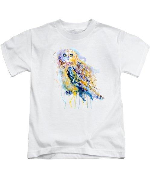 Short Eared Owl  Kids T-Shirt