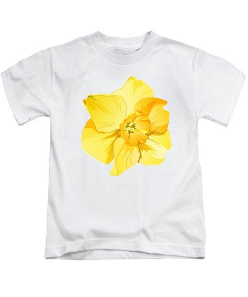 Short Trumpet Daffodil In Yellow Kids T-Shirt