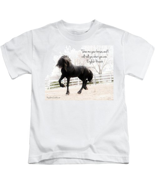 Show Me Your Horse Kids T-Shirt