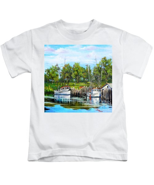 Shrimping Boats Kids T-Shirt