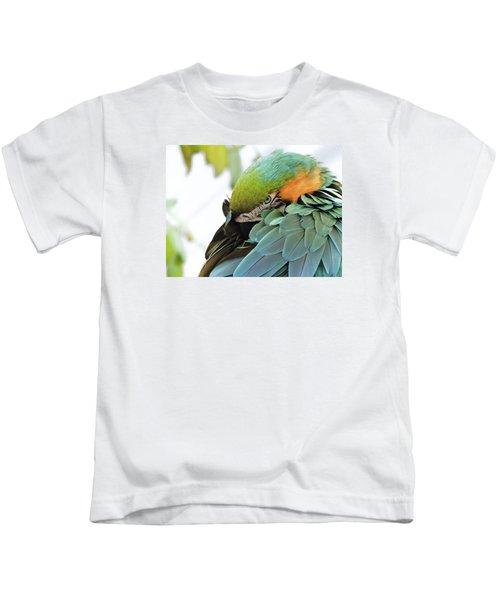 Shy Macaw Kids T-Shirt