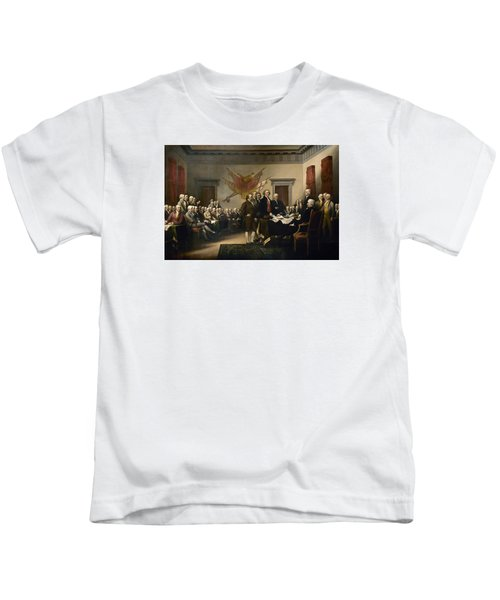 Signing The Declaration Of Independence Kids T-Shirt by War Is Hell Store