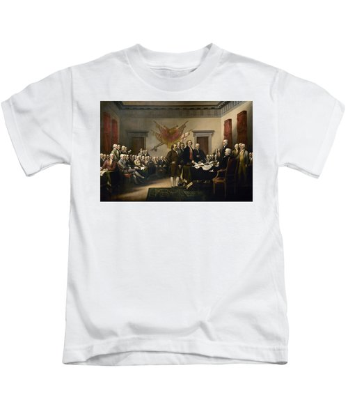 Signing The Declaration Of Independence Kids T-Shirt