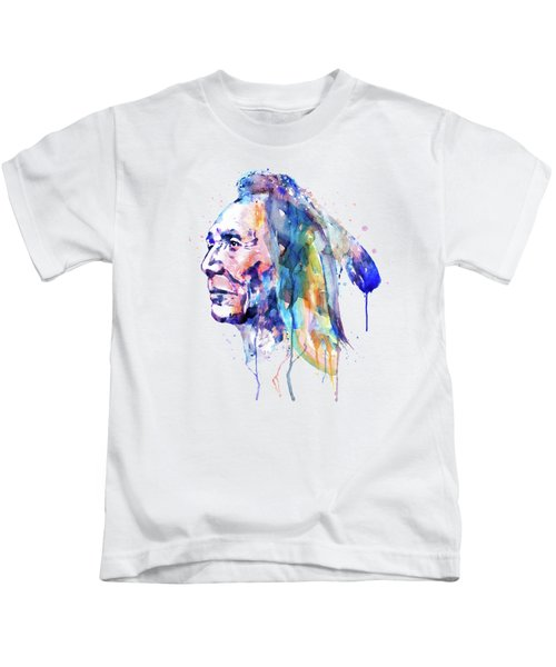 Sioux Warrior Watercolor Kids T-Shirt