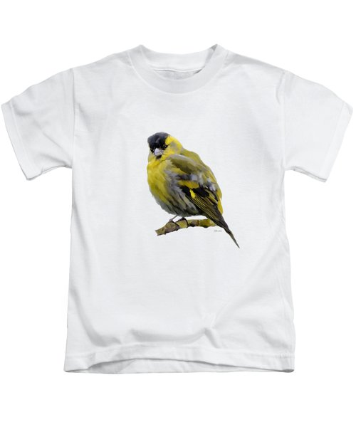 Siskin - Carduelis Spinus Kids T-Shirt by Bamalam  Photography