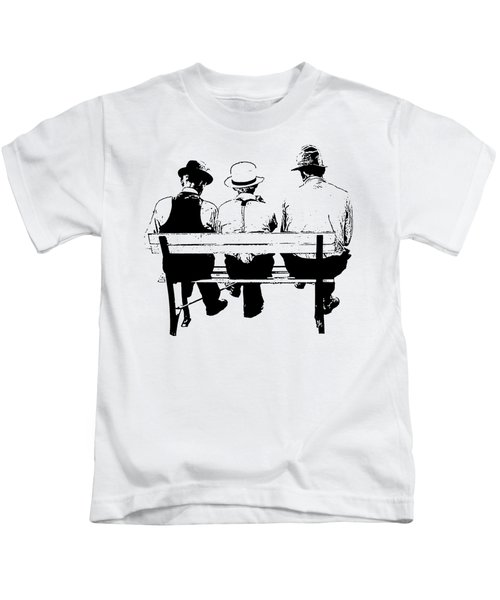 Sitting On A Park Bench Kids T-Shirt