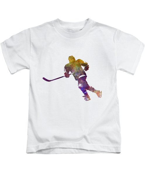 Skater With Stick In Watercolor Kids T-Shirt