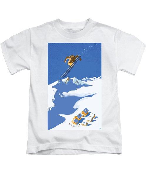Sky Skier Kids T-Shirt