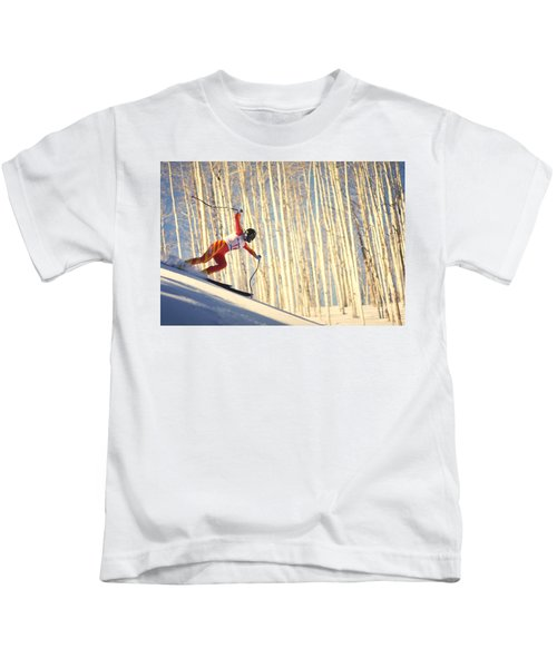 Skiing In Aspen, Colorado Kids T-Shirt